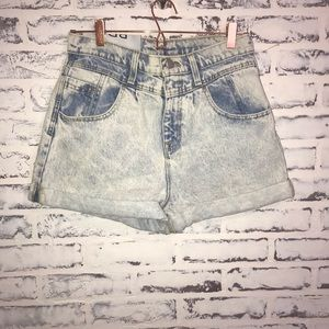 Bdg Mom High Rise Denim Shorts Size 28 Acid Wash